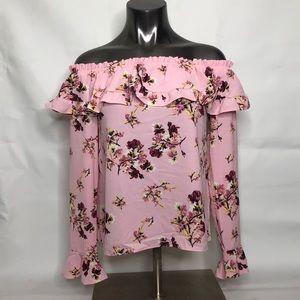 H&M Pink Floral Blouse 👚